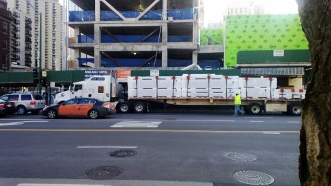 New Siding Delivery Godfrey Hotel