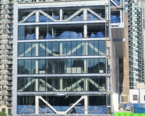 West Glass Curtain Wall Installation Godfrey Hotel Chicago