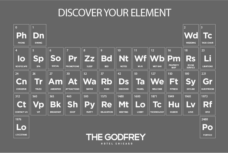 Name the element contest building the godfrey hotel for 4 elements salon chicago