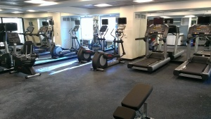 The fitness center at The Godfrey Hotel.