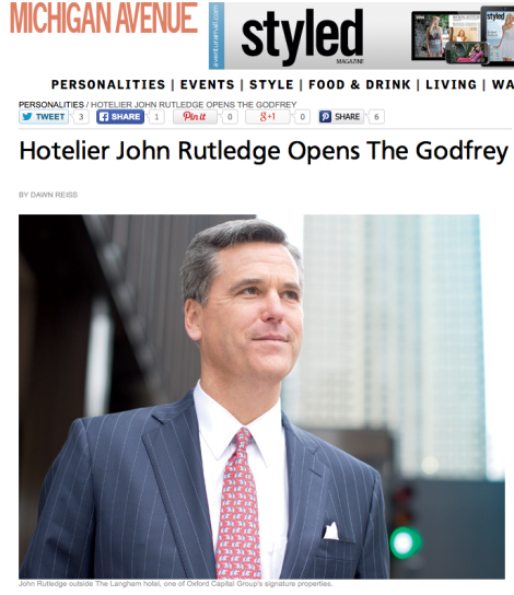 John Rutledge Featured in Michigan Avenue Magazine