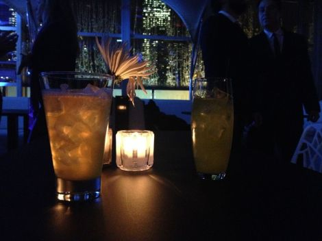 Guests enjoyed cocktails like the G & T Proper (left) and the Chef's Mojito (right).