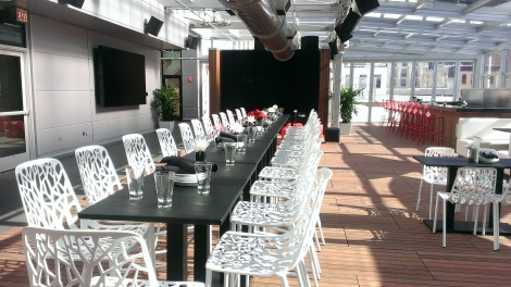 ChooseChicago hosted a lunch today at I|O Urban Roofscape.