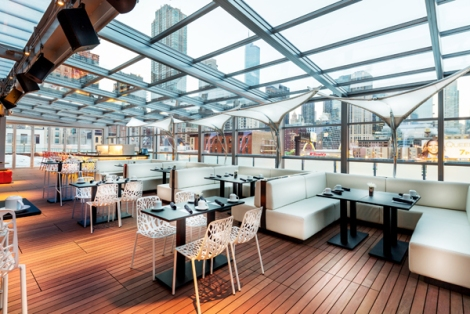 I|O Urban Roofscape with the retractable roof closed - perfect for any-weather parties!