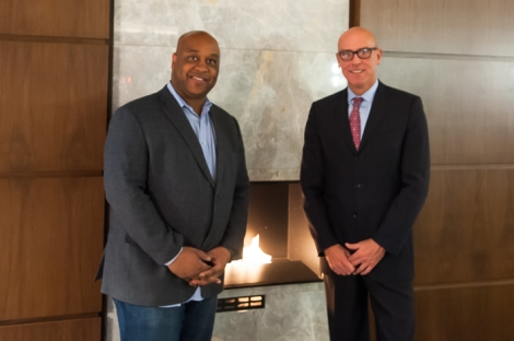 Pictured: Jermaine Anderson, Hotel Manager  and  George Jordan, SVP, Oxford Hotels and Resorts