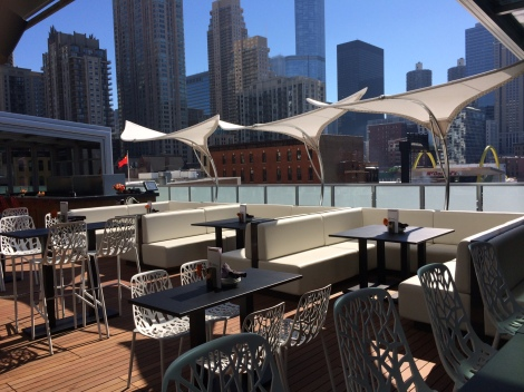 The retractable roof opens for beautiful weather!