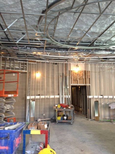 The construction of the lobby on Aug. 9, 2013.