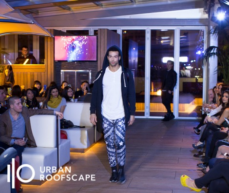 IO Urban Roofscape even accommodates a runway for an Akira Chicago evening party and fashion show.