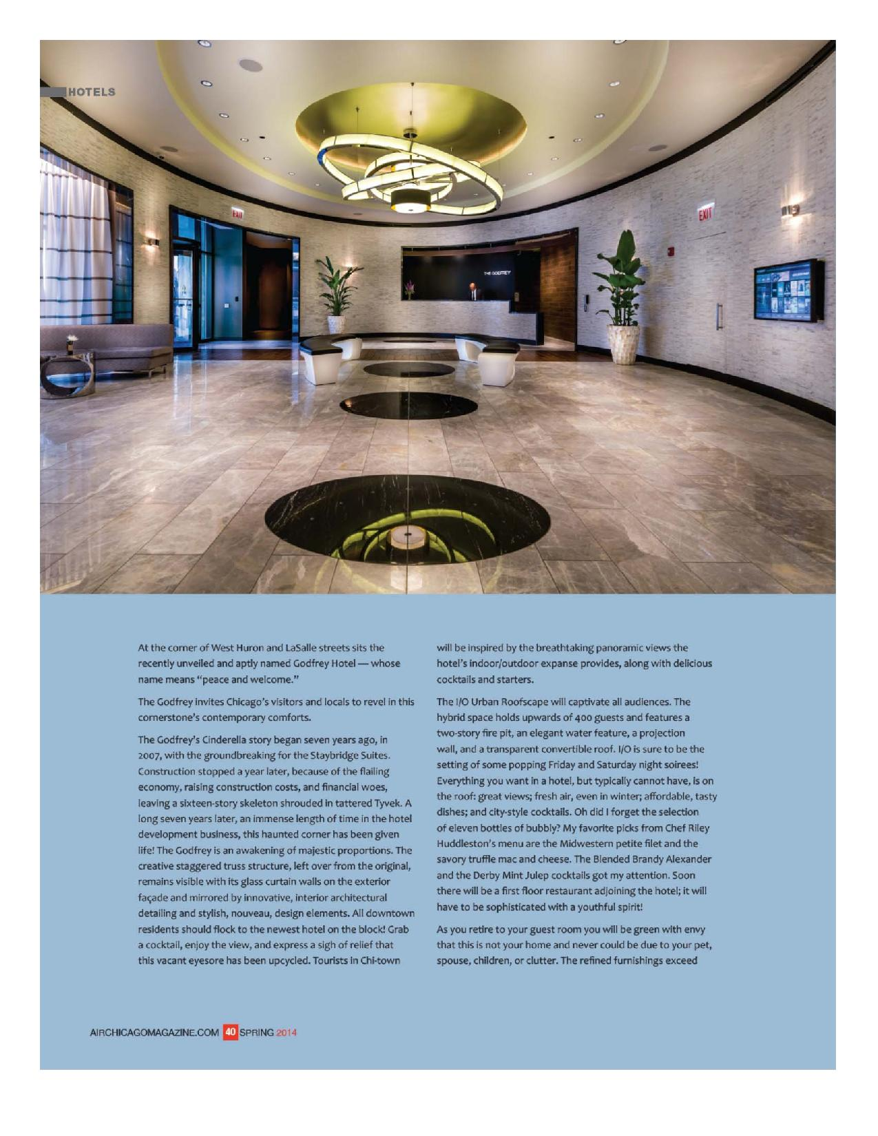 Siobhan higgins review of the godfrey hotel in airchicago for Godfrey design build