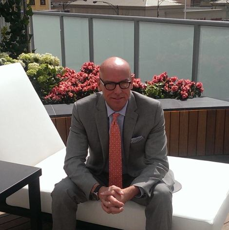 George Jordan, Area General Manger and SVP of Oxford Hotels & Resorts, relaxing for a minute at IO Urban Roofscape.