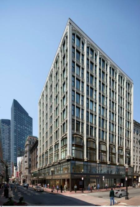 Exterior rendering of The Godfrey Hotel Boston