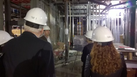 A walk through The Godfrey Hotel Boston during the Media Hard Hat Tour.