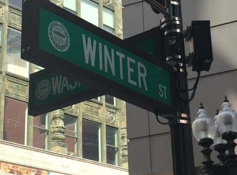 Winter Street in Boston