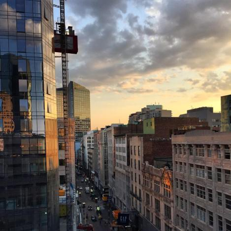 Millennium Tower is being built. Photo Credit: @BuildItBoston on Instagram - #GoGodfrey Contest Submission.