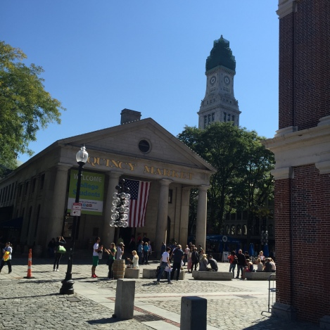 Right near Faneuil Hall is Quincy Market, which is named in honor of Mayor Josiah Quincy.